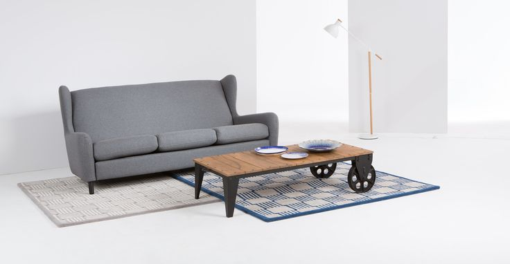 Humphrey industriële salontafel, hout en metaal | made.com