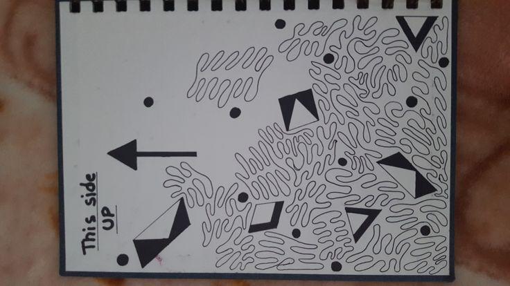 Classroom Doodles. Black Marker on Paper. A5.