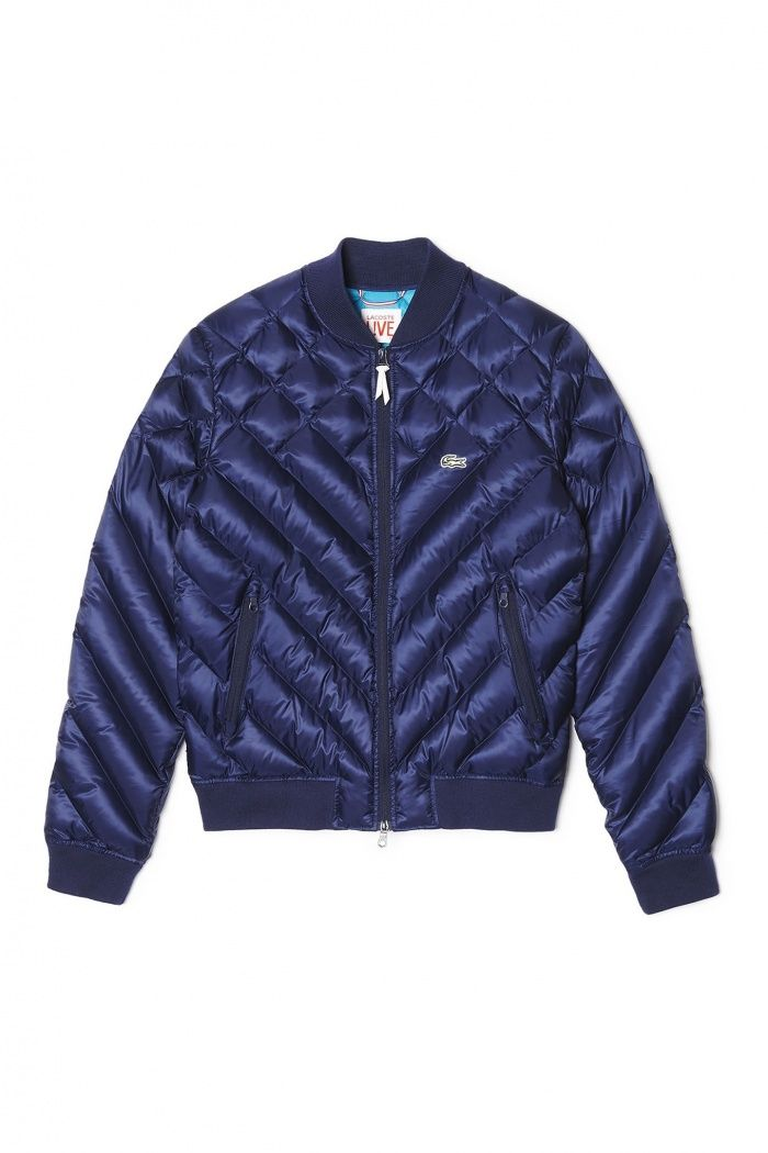 Quilted bomber jacket, £175, lacoste.com