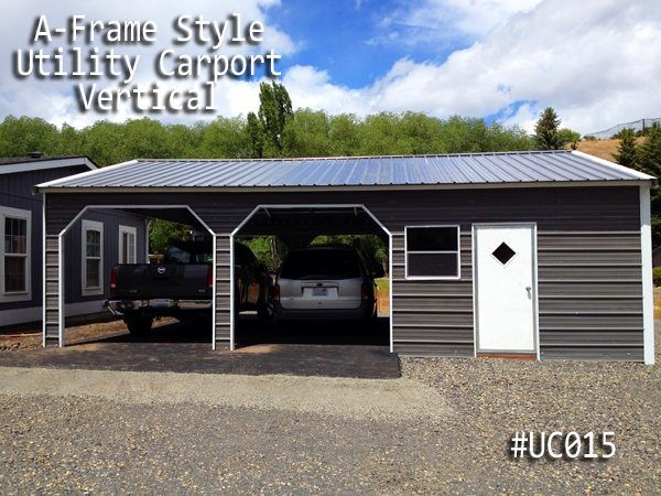Coast To Coast Carports Builds Metal Utility Carports In Many Styles And Sizes Small And Large Combo Units Are Grea Carport With Storage Carport Carport Sheds