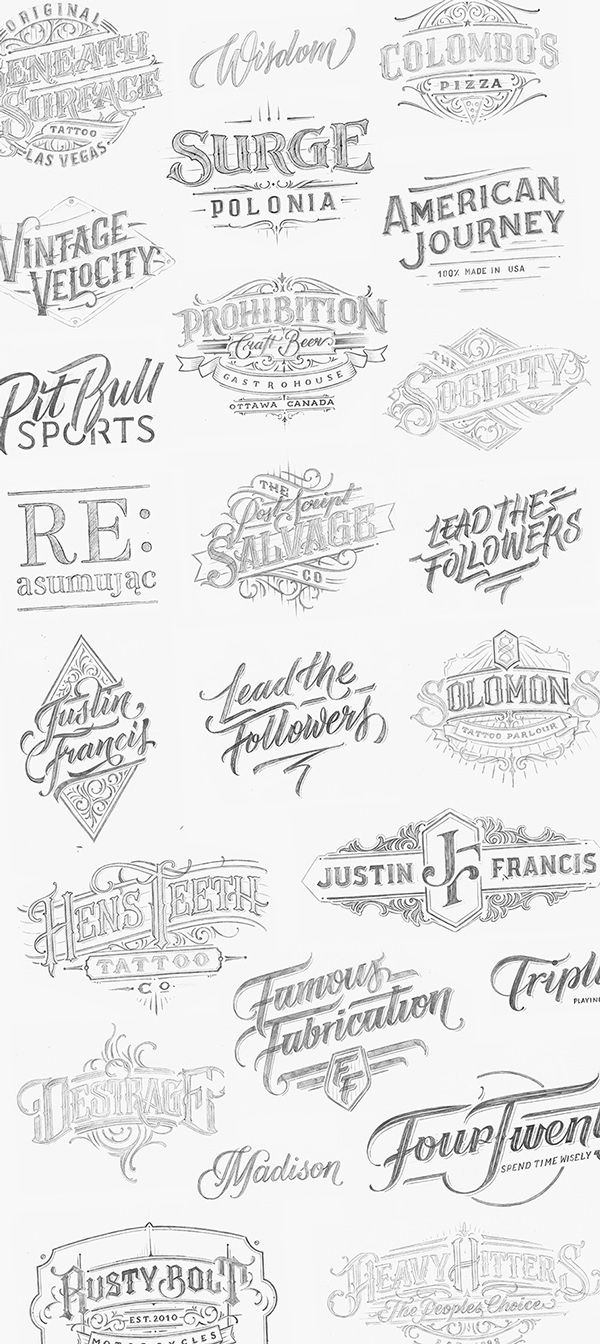 Handlettered Logotypes 4 on Typography Served