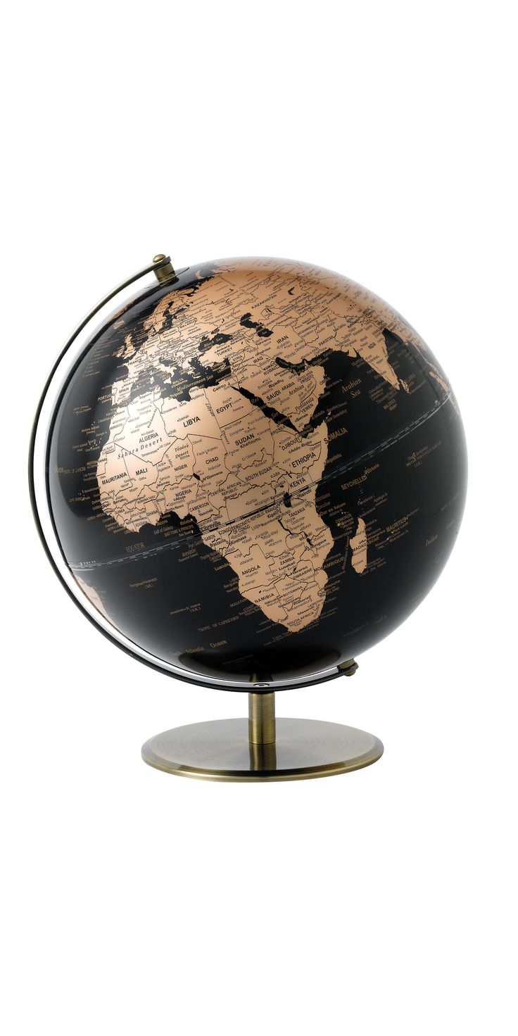 145 best trend copper accents images on pinterest buffet lamps globe set on a copper plated mount publicscrutiny Images