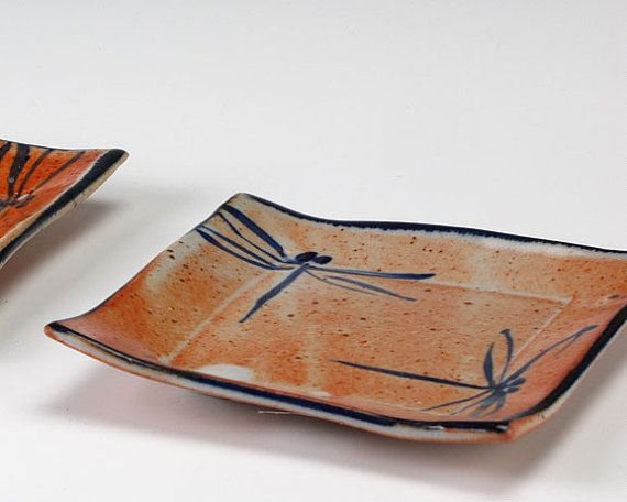Small Dragonfly Square. Pottery PlatesCeramic ... & 301 best Pottery - Dinnerware Sets images on Pinterest | Dish sets ...