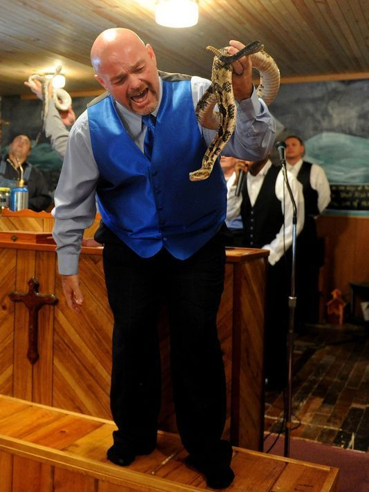 """James Coots, a snake-handling  pastor at Full Gospel Tabernacle In Jesus Name in Middleboro, Kentucky, died of a rattlesnake bite on 2/17/14 after refusing medical treatment.  He was the star of the """"Snake Salvation"""" reality TV show."""