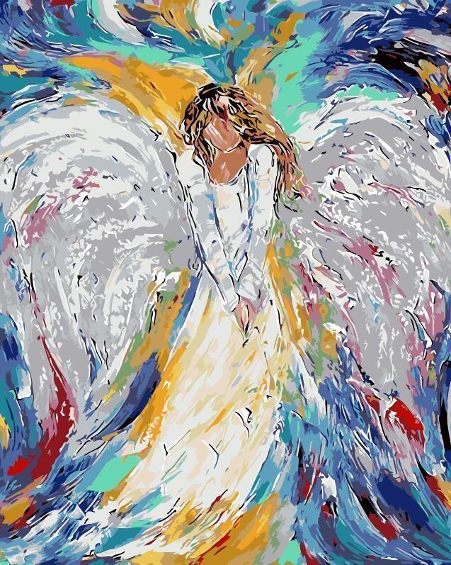 angel malen nach zahlen engel kunst gemalde 3d zeichnung abstrakte bilder leinwand kaufen