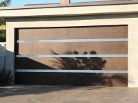 Lunetta style custom garage door with horizontal panel designs - Automatic Remote Access