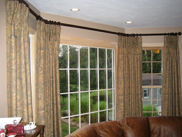 172 best images about window treatments on pinterest for Arched bay windows