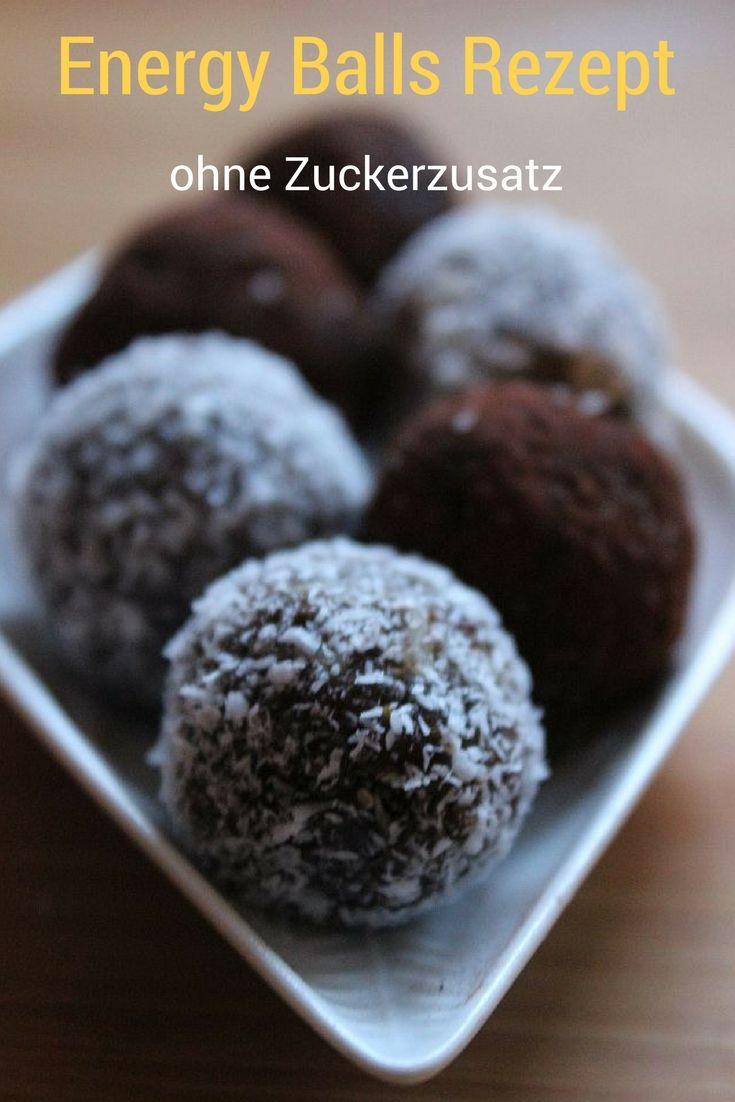 Leckere Energy Balls ohne Zuckerzusatz ganz einfach herzustellen, ein schnelles Rezept für was Süßes zwischendurch oder zum Kaffee, Tee oder Milch. Auch zum Mitnehmen in die Schule oder ins Büro geeignet. #Energyballs #Rezept #DIY #TM #Thermomix #ohneZucker