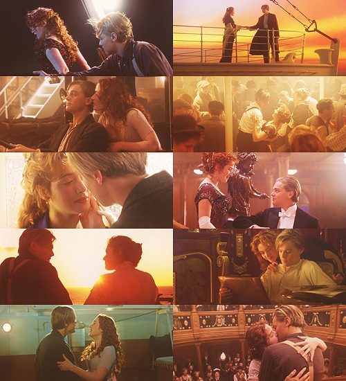 The last picture is my favorite even though it's really sad. They're reunited, the ship is all sparkling new again, everyone is back on the it and Jack is waiting for Rose at the top of the staircase. It's just a bittersweet ending.