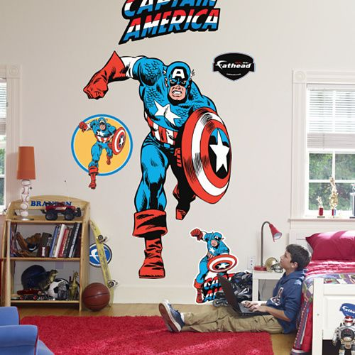 400 best images about boys room on pinterest captain for Captain america bedroom ideas