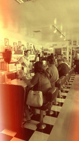 Peggy Sue's Diner, on the interstate 51 USA