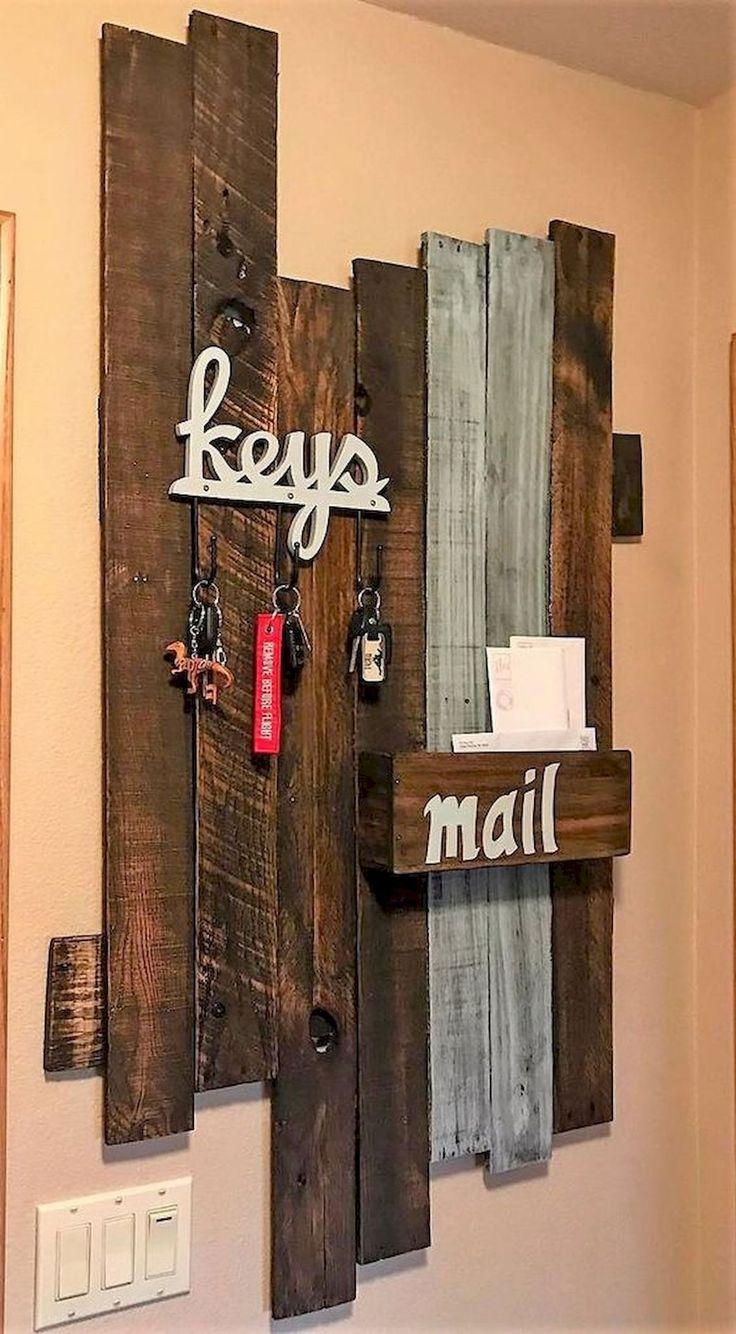 60 Fantastic DIY Projects Pallet Key Rack Design Ideas