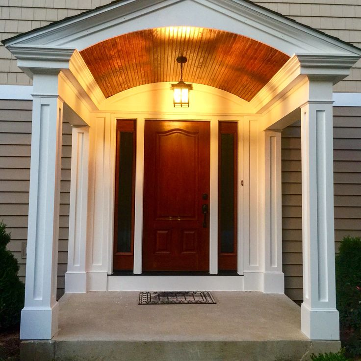 93 best images about home exterior makeover on pinterest for Garage portico