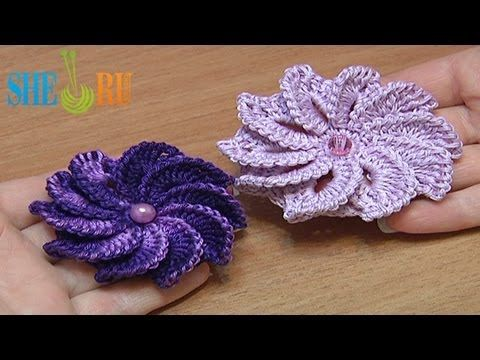 How To Crochet Flower Asymmetrical Petals Tutorial 43. - YouTube