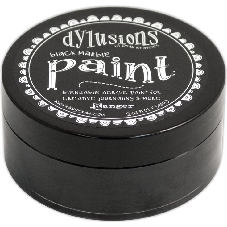 DR Dylusions Acrylic Paint Black Marble