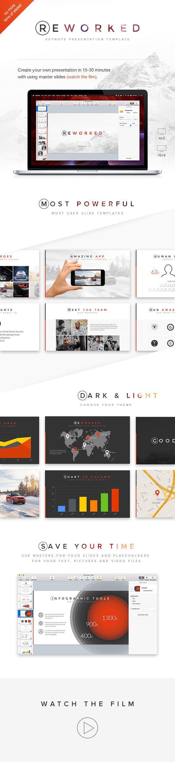368 best presentation designsinfographic images on pinterest reworked keynote presentation template toneelgroepblik Gallery