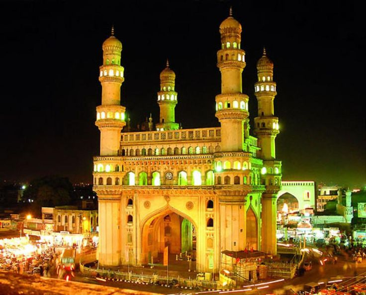 """""""The Arc de triomphe of the East"""", Charminar was built in 1591 by Mohammed Quli Qutb Shah"""