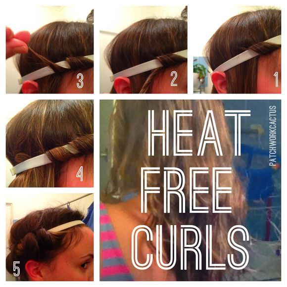 Heat free curls patchworkcactus. Such an easy way to do your hair!