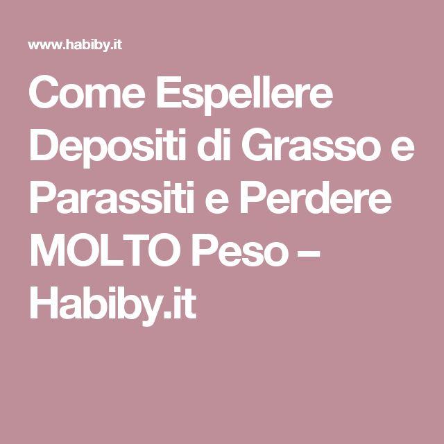 Come Espellere Depositi di Grasso e Parassiti e Perdere MOLTO Peso – Habiby.it
