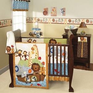 S. S. Noah Crib Bedding | Nursery Bedding | Lambs and Ivy | Baby Bedding