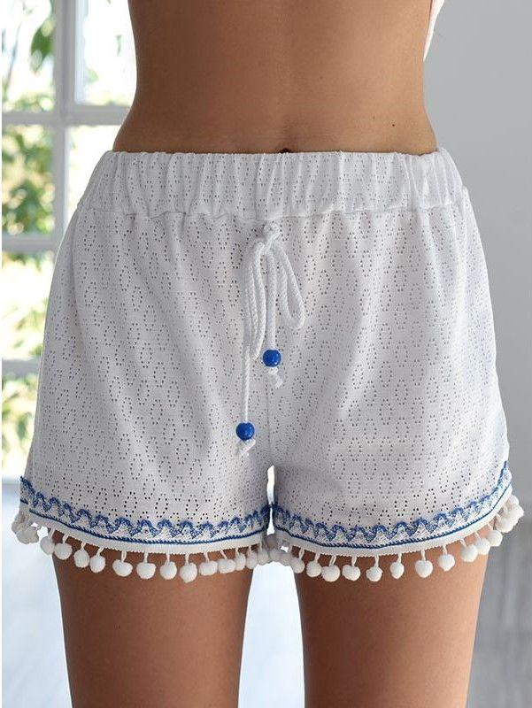 Anny White Shorts