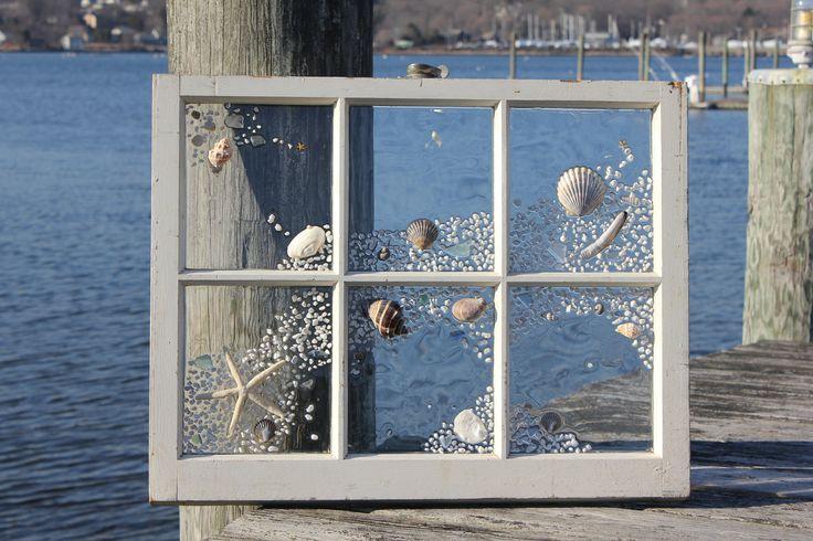 shabby chic beach | Shabby chic beach windows by BeachDesignsbycaroli on Etsy