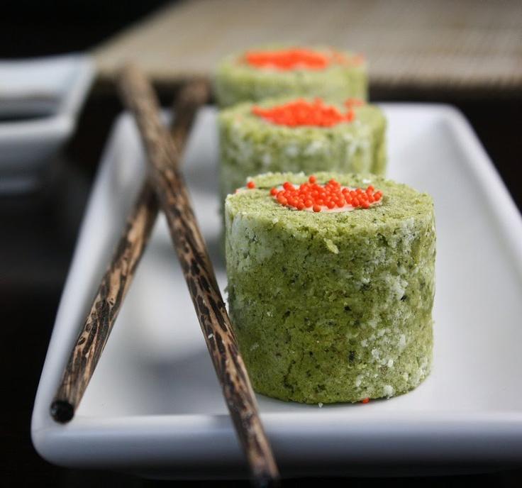 Sprinkle Bakes: Matcha Cake Sushi Rolls: Desserts, Matcha Cakes, Sprinkles, Cakes Rolls, Rolls Cakes, Green Teas Cakes, Sushi Cakes, Sushi Rolls, Cakes Sushi