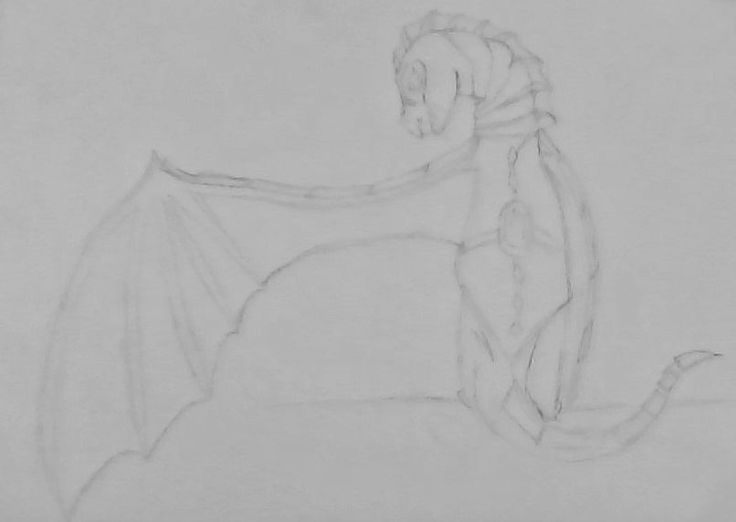 A dragoness in armor and a saddle, preparing for battle.