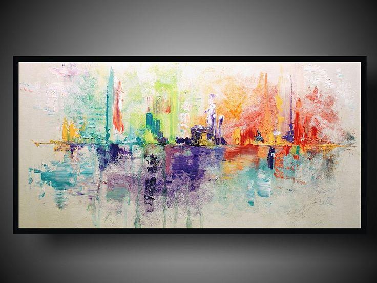 Obraz abstrakcja delikatne radosne kolory. Ręcznie malowany obraz idealnie nadaje się jako obraz do biura i nowoczesnego wnętrza. Autor www.dobrasztuka.pl   #obrazabstrakcja #obrazyabstrakcja #dobrasztuka