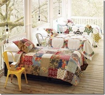 the sleeping porch''' awesome! how cool would this be for the grandkids?!