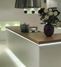 LED strip light under work surface
