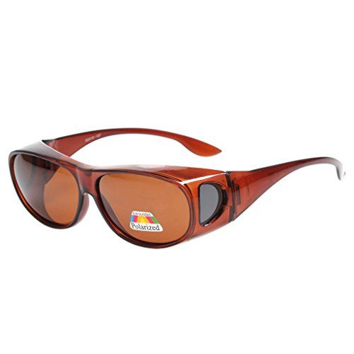 LIANSAN Polarized Fit Over Sunglasses for Myopic Lens Womens Mens Designer Fashion Classic Brown LSPZ3303 >>> You can find out more details at the link of the image.