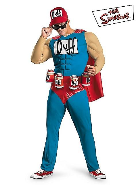 Men's Classic Muscle the Simpsons Duffman Costume