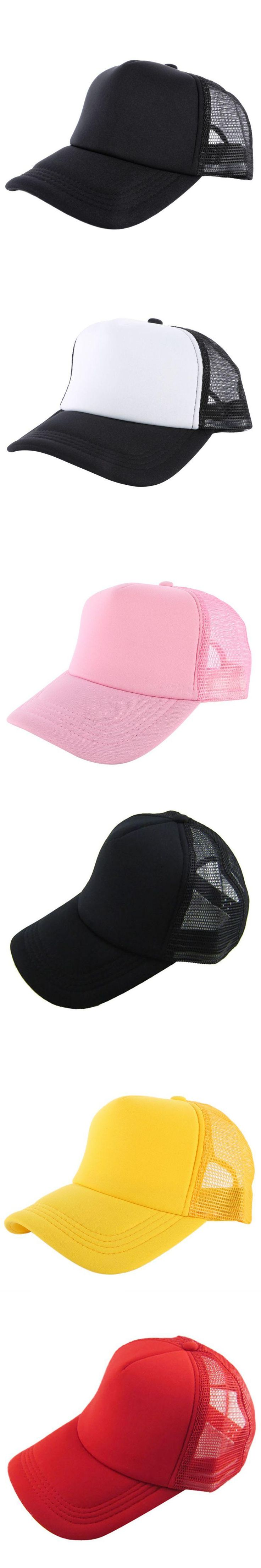 Factory Price! Unisex Attractive Casual Fashion Men Women Summer Hat Solid Baseball Cap Trucker Mesh Blank Visor Hats Adjustable