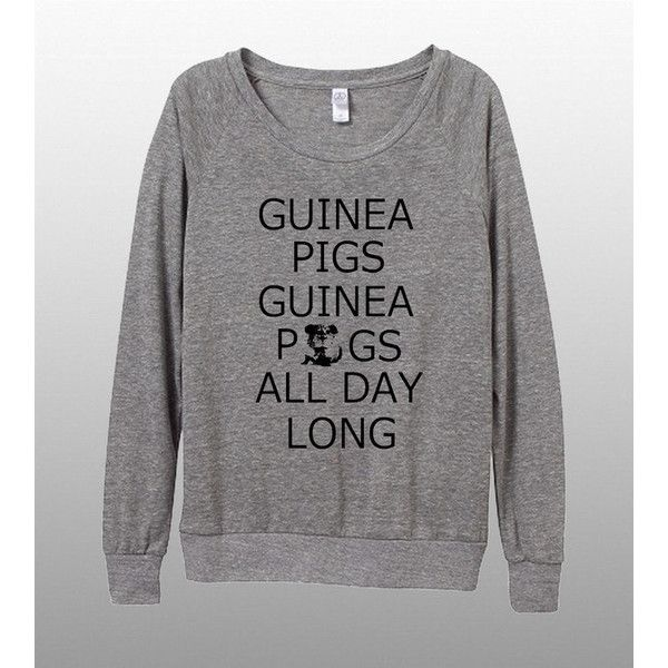Guinea Pigs Guinea Pigs All Day Long Womens Long Sleeve Pullover Shirt... (