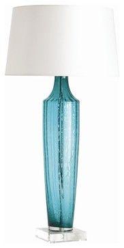 Wilhelmina Lamp, Turquoise   Modern   Table Lamps   Masins Furniture