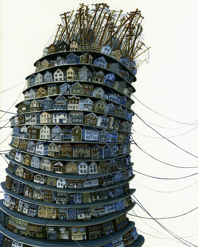 """tower, by amy casey acrylic on panel 16 x 20"""" tower.jpg (JPEG Image, 641×800 pixels)."""