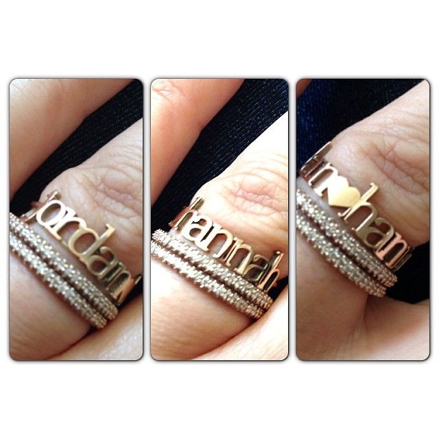 G Rock LA handmade jewelry personalized gold name ring WANT one  !!!