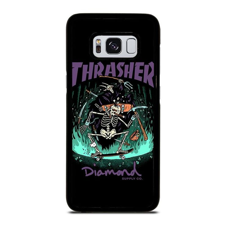 THRASHER DIAMOND SUPPLY CO Samsung Galaxy S4 S5 S6 S7 S8 S9 Edge Plus Note 3 4 5 8 Case Cover