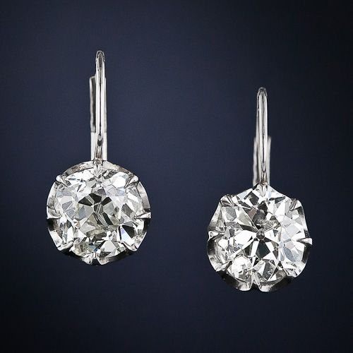 Antique Diamond Drop Earrings -McCoy's Diamonds (www.mccoysdiamonds.com) can work to replicate any antique earrings that you desire!