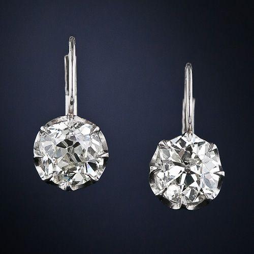 Antique Diamond Drop Earrings -McCoy's Diamonds (www.mccoysdiamonds.com) can work to replicate any antique earrings that you desire!