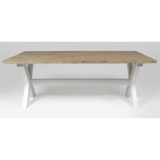 X-Line matbord 200 klarlack vita ben | Matbord - Bord | Chilli.