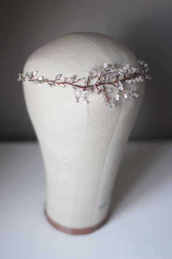 Pedaço de cristal decorado casamento nupcial HeadBand Cabeça Banda Banda Cabelo Tiara Diadema Bridal Cabelo Vine cabelo nupcial grinalda