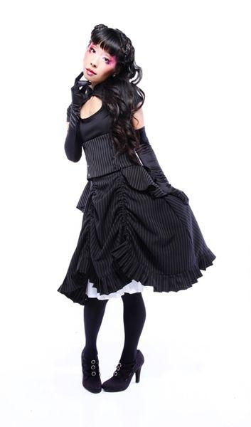 High-waisted Lolita Victorian skirt