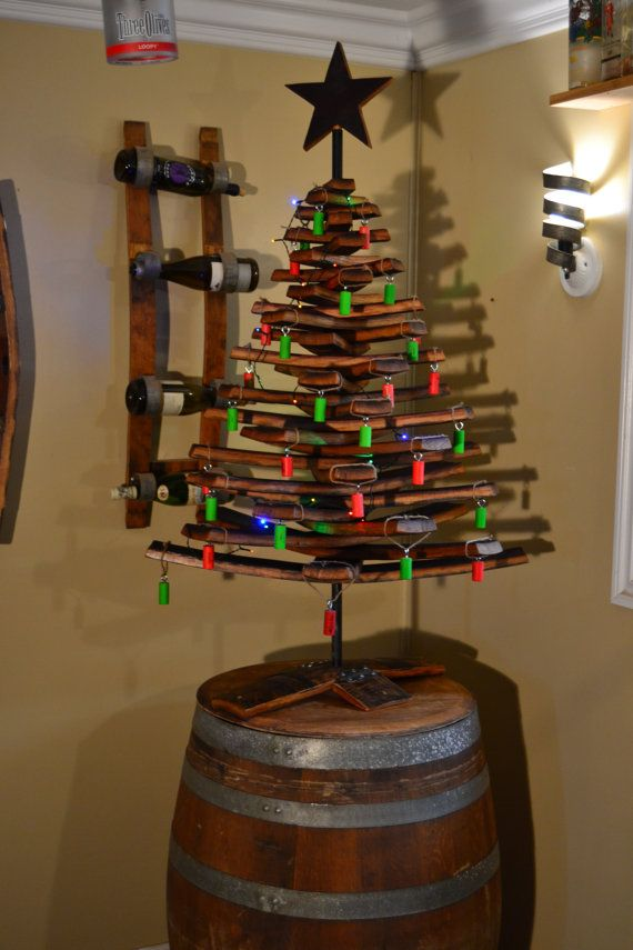 Wine Barrel Stave Christmas Tree By Wineyguys On Etsy