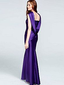 Long dress with cowl back and front