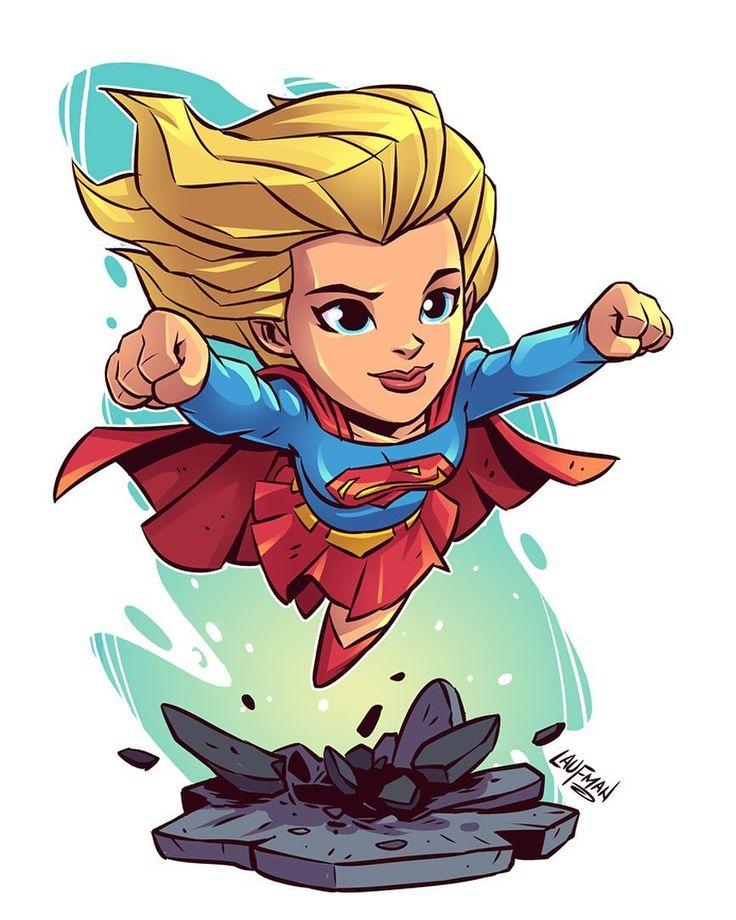 "3,406 Me gusta, 4 comentarios - Derek Laufman (@dereklaufman) en Instagram: ""Chibi Super Girl! On sale at www.dereklaufman.com (link in my profile) #supergirl #dccomics #chibi…"""