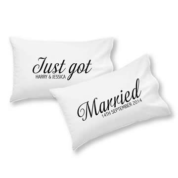 Personalised Pillowcase for Grown-Ups - Just Got Married