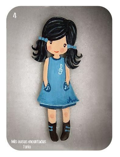 http://miscosasencantadas.blogspot.com.es/ Broche, muñeca Dolly Dayka