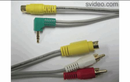 Pro 7-Pin S-Video to 4-Pin S-Video with Audio allows you to connect a laptop with S-Video to a TV with S-Video